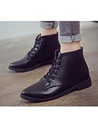 38ccae94a75b7 RTRY Zapatos de mujer cuero cuero Nappa moda otoño invierno botas botas  botas de combate Chunky talón botines botines de Us7.5…