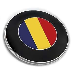 Emblemaufkleber mit Flagge – RUMÄNIEN – Flaggen Embleme, Flaggenaufkleber
