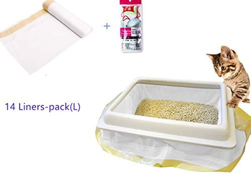 Manfâ Bolsas Basura Gatos 2 Paquetes 14 Bolsas, Bolsas