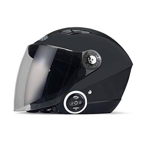 LIANGLIANG Casco Moto Bluetooth esconder Doble Altavoz