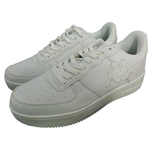 Kappa scarpe sportive unisex 1330 - Sneaker da ginnastica, Bianco, Pelle (37 1/3)