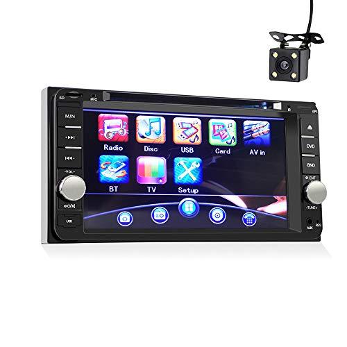ZJYYD Auto DVD Universal-CD-Maschine & DVD-Player, 7-Zoll-TFT-LCD-Touchscreen Bluetooth-Freisprecheinrichtung mit Umkehrpriorität + Rückfahrkamera für Toyota