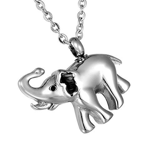 HooAMI - Colgante de acero inoxidable para cenizas, diseño de elefante