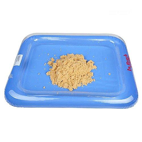 Kompassswc Aufblasbarer Mini Sandkasten 60x45cm Sandkiste Kinder Spielzeug für Sand Zaubersand,Magic Sand ZUFÄLLIG FARBE (1 Stück) (Aufblasbarer Sand)
