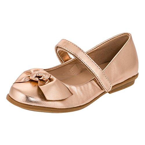 Festliche Kinder Mädchen Ballerinas Schuhe für Partys und Freizeit in Vielen Farben M297bz2 Bronze Gr.31