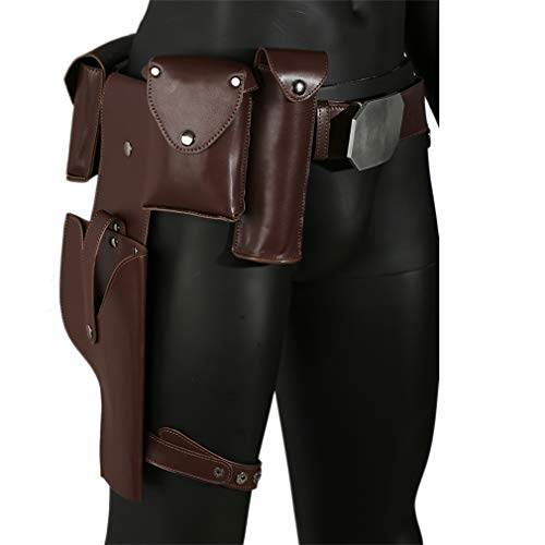 Mesky EU Luke Skywalker Gürtel PU Leder Zubehör Film Cosplay Kostüm Replik für Herren Verrücktes ()