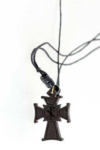 Holzkreuzkette Halskette mit Holzkreuz Kreuz Kreuzanhänger Jesuskreuz Jesus Christi
