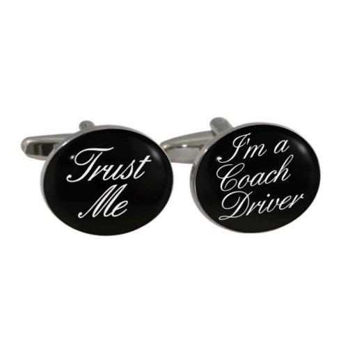 Trust Me I 'm A Coach Treiber Design Manschettenknöpfe in Geschenkbox (Arriva Bus)