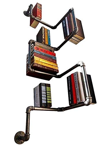 kirhov - scaffale in acciaio galvanizzato, a forma di tubo, industrial urban style