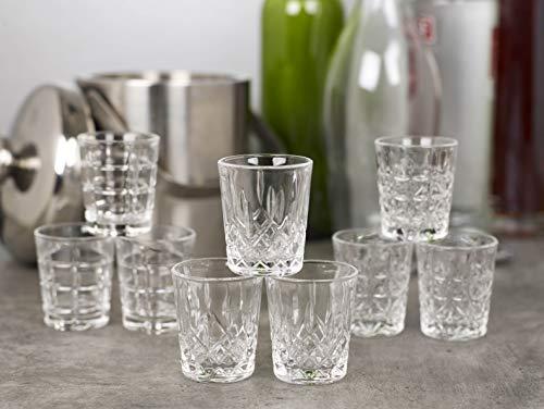 Queensway bicchierini da shot di alta qualità 12x Pompei Shot Glasses
