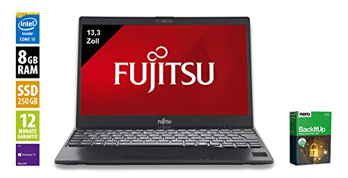 Fujitsu Lifebook U937 Notebook/Laptop | 13.3 Zoll | Intel Core i5-7200U @ 2,5 GHz | 8GB DDR4 RAM | 256GB SSD | Windows 10 Pro (Generalüberholt)