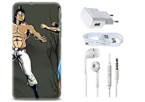 Spygen HTC Desire 816 Case Combo of Premium Quality Designer Printed 3D Lightweight Slim Matte Finish Hard Case Back Cover + Charger Adapter + High Speed Data Cable + Premium Quality Handfree