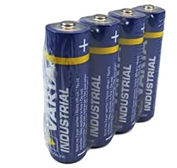 80 x Varta Batterien Alkaline, Mignon, AA, LR06, 1.5V Industrial, Shrinkwrap