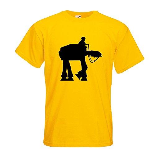 KIWISTAR - Anakin AT-AT T-Shirt in 15 verschiedenen Farben - Herren Funshirt bedruckt Design Sprüche Spruch Motive Oberteil Baumwolle Print Größe S M L XL XXL Gelb