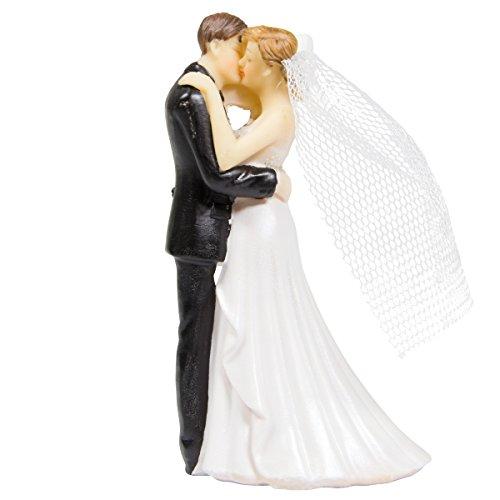 Pareja de novios bodas con motivo Beso y Libro. Medidas aproximadas 11 x 5 cm.