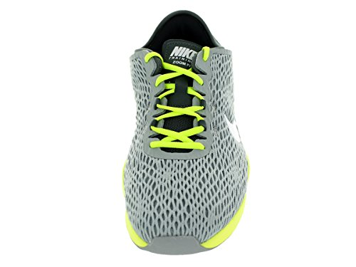 Nike Wmns Zoom Fit, Chaussures de Tennis Femme, Talla Wolf Grey/White/Dark Grey/Volt