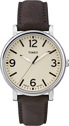 Timex T2P526 Orologio da Polso, Quadrante Analogico Unisex, Cinturino in Pelle, Colore Marrone