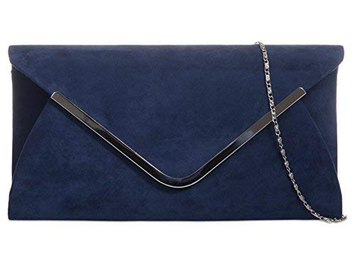 fi9® , Damen Clutch blau marineblau -