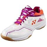 Yonex - Zapatillas de Squash y bádminton de Sintético para Mujer Blanco/Rosa, (Blanco/Rosa), 39 EU