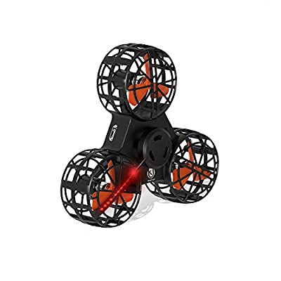 Lenfesh Tiny Drone Flying Fidget Spinner Stress Relief Gift Flying Gyroscope Toy Christmas Flying Helicopter