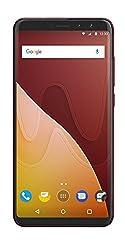 Wiko View Prime 14,47 cm (5,7 Zoll) Smartphone (16MP Kamera, 64 GB internen Speicher, 4GB RAM, Dual-SIM, Fingerprint, Android 7.1 Nougat) cherry red