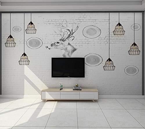 TV hintergrund tapeten einfache moderne wohnzimmer wandbild video wandbedeckung schlafzimmer persönlichkeit kunst Nordic wallpaper 3d 350 cm * 245
