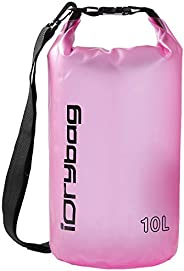 IDRYBAG Clear Waterproof Dry Bag Floating 2L/5L/10L, Lightweight Dry Bag Water Sports, Roll Top Keeps Gear Dry