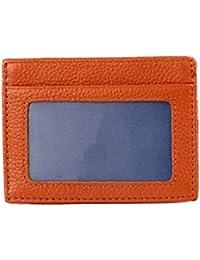 Igspfbjn Porta Carte in Pelle Portafoglio Frontale con Porta Carte  d identità Porta Carte di 7b9bb6ee4f2