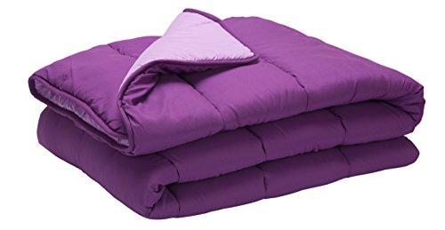 Pikolin Home - Relleno nórdico / edredón hipoalergénico de fibra, tacto pluma, otoño-invierno, 300 gr/m², 150 x 220 cm, cama 80/90, color morado