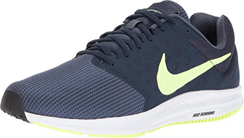NIKE Men's Downshifter 7 Running Shoe Thunder Blue/Volt Glow/Obsidian/Black Size 9 M US