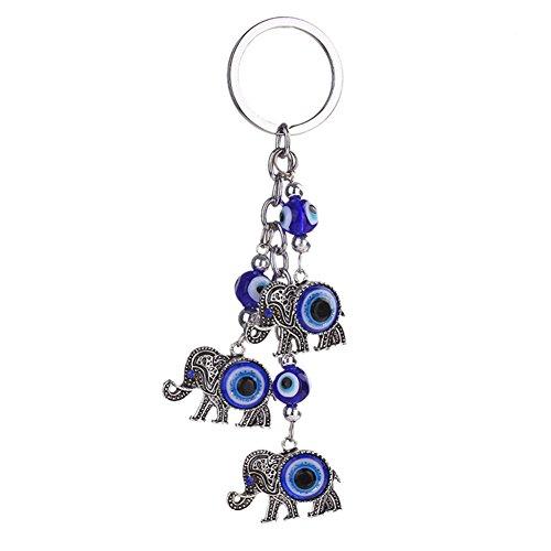 Qinlee Metall Schlüsselring Kreativ Sterne/Elefant/Kleine Bäume Modellierung Anhänger Schlüsselbund Einfach Schlüsselring Rucksack Mode Zubehör Schlüsselbund Mode Geschenk Schlüsselanhänger (Elefant) (Modellierung Von Bäumen)