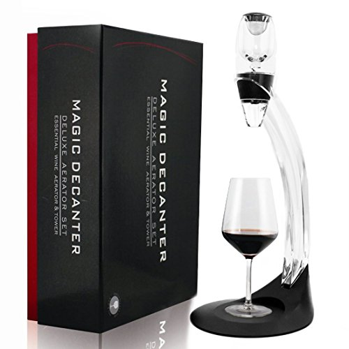 Torre de juego de aireador de vino decantador con Base para vino tinto navidad regalo para los amantes del vino expertos Sommeliers y restaurante
