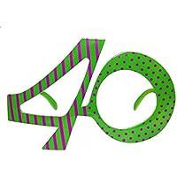 OCCHIALI FORMA DI NUMERO 40 - 40 Festa Di Compleanno