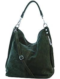 Sac portés épaule, sacs fourre-tout pour femme, Mod. 2108, suede, Italy
