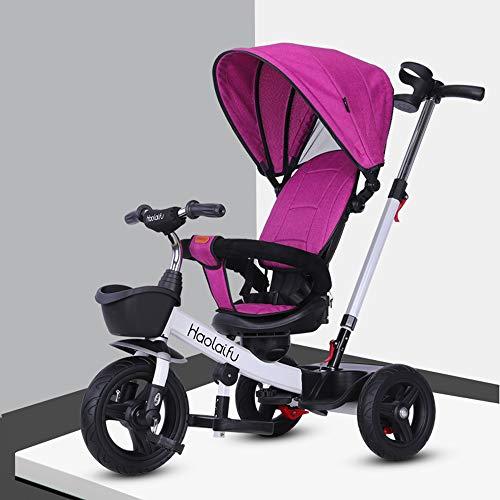 Baby trolley PIGE Tragbarer Kinderwagen - Kinderdreirad, abnehmbares klappbares Fußpedal, rutschfeste Rollen mit Bremssystem, 1-6 jährige Kinder.