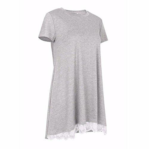 Ulanda-EU Camicia - Maniche Corte - Donna Gray