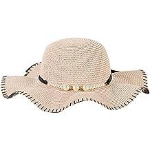 Dorical Cappello Grande da Donna con Bordo in Paglia per la Decorazione  della Spiaggia The Straw a089e3641c57