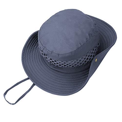 Miriqi Sonnenhut Herren Damen UPF 50+ UV Schutz Fischerhut Faltbar Wasserdicht Outdoor Wanderhut,Kinnriemen, und Lüftungsschlitzen, aus Baumwolle