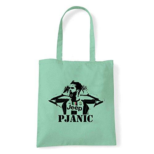 Art T-shirt, Borsa Shoulder Miralem Pjanic, Shopper, Mare Menta