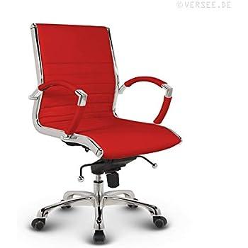 Bürostuhl Drehstuhl Schreibtischstuhl Konferenzstuhl Echt-Leder Montreal Design