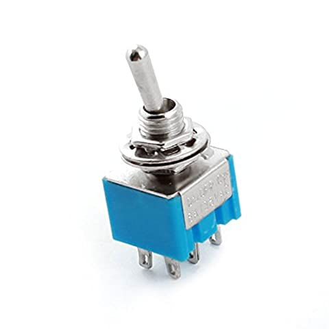 sourcingmap® AC 125V 6A DPDT 6 pôle ON/OFF/ON 3 interrupteur bascule commande verrouillage position