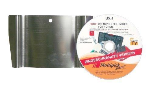 Multipick Original: Türfallengleiter 20 mm inkl. Profi-Anleitung auf DVD