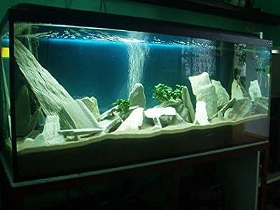TM Aquatix Aquarium Stone Slate Fish Tank Premium Decoration 100% Natural Ideal For Caves White Black Raibow by TM Aquatix