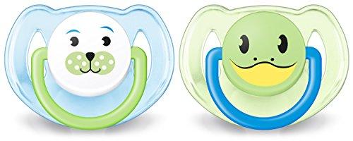 Philips Avent Schnuller 6-18 Monate, verschiedene Farben / Designs, 2er-Pack - SCF182 / 34