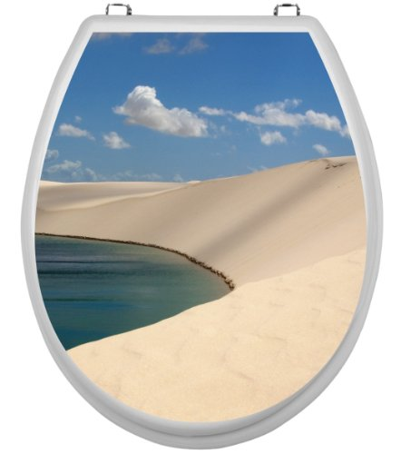 - Sticker pour wC motif dunes