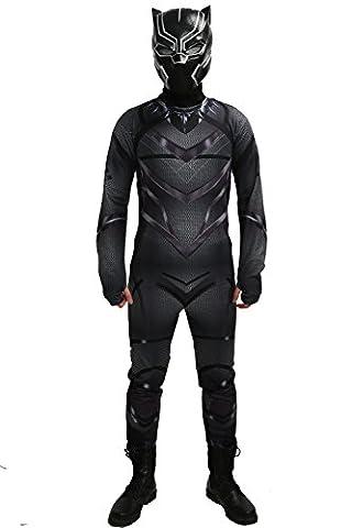Costume Civil War Black Panther - Halloween Costume Refroidir Fancy Dress Noir Zentai