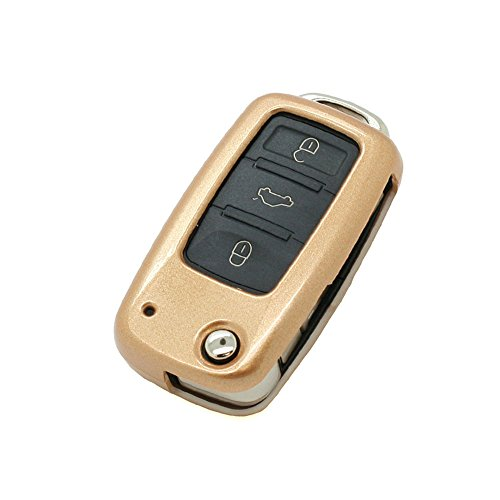 metallic-paint-key-case-shell-cover-fit-for-volkswagen-skoda-seat-flip-remote-key-gold