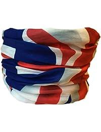 Multifunction Neckwarmer, Snood, Hat, Scarf and Hood in Union Jack print by Monogram