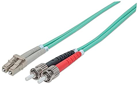 "intellinet 751148 Glasfaser LWL Fiber optic Kable ""duplex LC/ST (50/125) OM3"" 10m aqua"