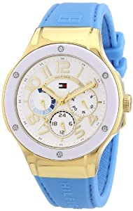 Reloj Tommy Hilfiger 1781325 de cuarzo para mujer con correa de silicona, color azul de Tommy Hilfiger
